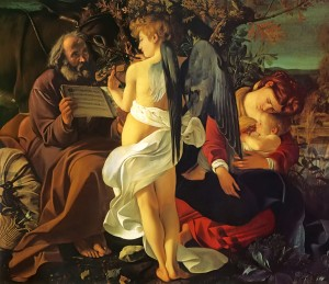 Rest on the Flight to Egypt, Caravaggio c. 1596