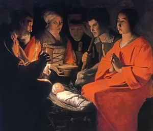 Adoration of the Shepherds by Georges de la Tour c. 1644