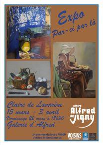 affiche expo A de V mars 17